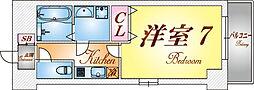 兵庫県神戸市長田区長田天神町3丁目の賃貸マンションの間取り