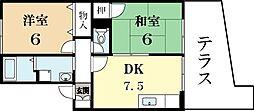 TタウンD棟[1階]の間取り