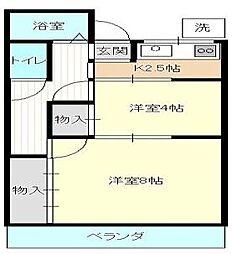 ステーションサイド新横濱[202号室号室]の間取り
