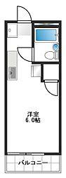 メゾンアルファ[1-D号室]の間取り