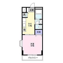 サンハイム寿II[2階]の間取り