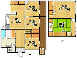[一戸建] 福岡県福岡市東区香椎5丁目 の賃貸【/】の間取り
