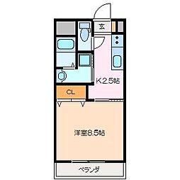 仮)久保田町MマンションA棟[2階]の間取り