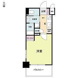 ラクラス大阪城[0702号室]の間取り