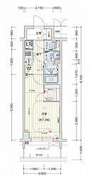 名古屋市営桜通線 丸の内駅 徒歩2分の賃貸マンション 4階1Kの間取り