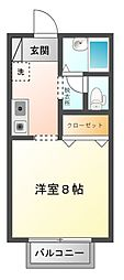 CHIGUSA・O・M[2階]の間取り