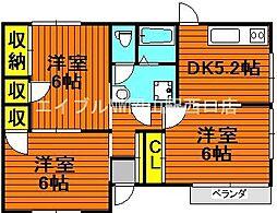 [一戸建] 岡山県岡山市北区田中丁目なし の賃貸【/】の間取り