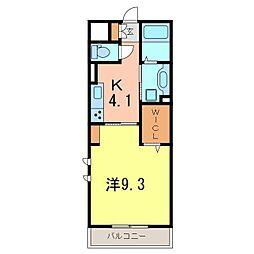 仮)D−room刈谷市矢場町B棟[207号室]の間取り
