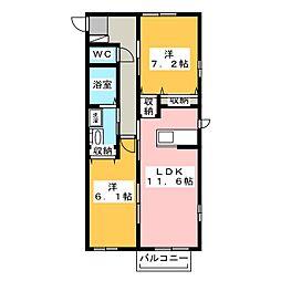 シルフィードA[2階]の間取り