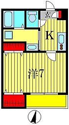 MELLOW RESIDENCE[1階]の間取り