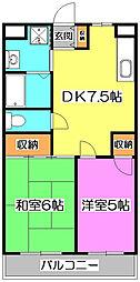 セジュール・ド・ミワ壱番館[5階]の間取り