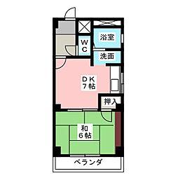 グリーンハウス[3階]の間取り