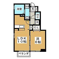 D−roomエクセル[1階]の間取り