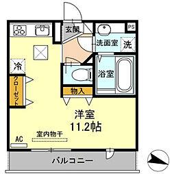 アイクレスト下関駅[1階]の間取り