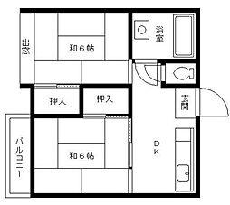 金子ビル[2階]の間取り