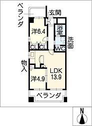 SK'BUILDING−1[7階]の間取り
