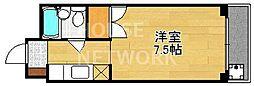 京都府京都市上京区上御霊馬場町の賃貸マンションの間取り