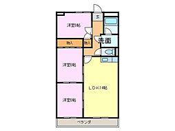 半田第3ロイヤルマンション[305号室]の間取り