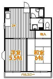 東京都葛飾区西亀有1丁目の賃貸マンションの間取り