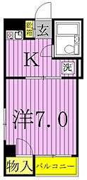 コーポ天津[3-A号室]の間取り