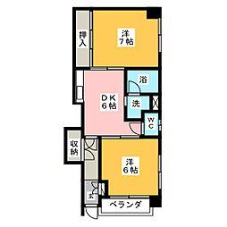 コーポ豊田本町[1階]の間取り