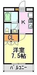 ラ・カーサおゆみ[2-203号室]の間取り
