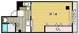 大阪府茨木市舟木町の賃貸マンションの間取り