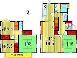 [一戸建] 千葉県柏市新柏3丁目 の賃貸【/】の間取り