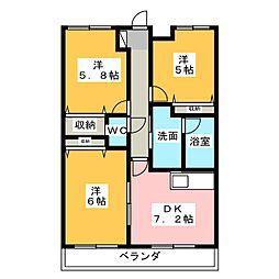 パークコート5(PARK COURT V)[9階]の間取り