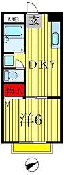 岩崎ハイツ[2階]の間取り