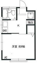 第二田島荘[3号号室]の間取り