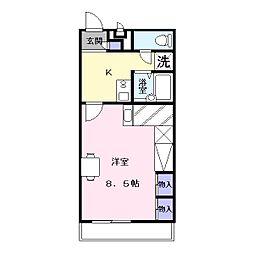レオパレスLa Vista[1階]の間取り