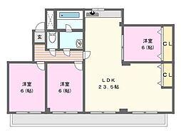 KANOKOII[2階]の間取り