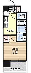 アクアプレイス京都西院[601号室号室]の間取り
