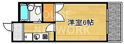 グレース紫竹[203号室号室]の間取り