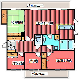 パシフィック福住[7階]の間取り