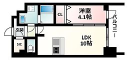 Osaka Metro御堂筋線 東三国駅 徒歩6分の賃貸マンション 10階1LDKの間取り