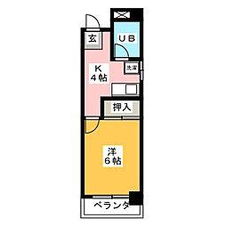 サンコーポ新寺[2階]の間取り