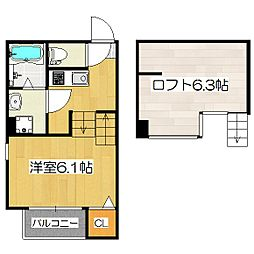 仮)大宅関生町SKHコーポA棟[1階]の間取り