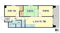 ハイツマエダII[4階]の間取り