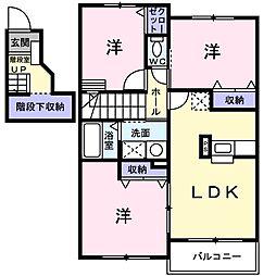 モントレ・アマリー[2階]の間取り