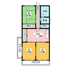 トランキル伊藤[4階]の間取り