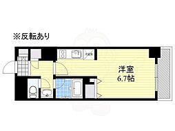 HF駒沢公園レジデンスTOWER 18階ワンルームの間取り