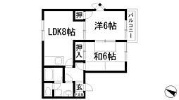 兵庫県伊丹市寺本5丁目の賃貸アパートの間取り