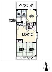 第2トレンツマンション[4階]の間取り