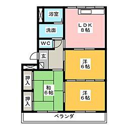 エステート8[2階]の間取り
