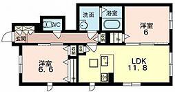 (仮称)シャーメゾン西今川3丁目計画[201号室号室]の間取り