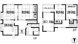 [一戸建] 兵庫県宝塚市御殿山4丁目 の賃貸【/】の間取り