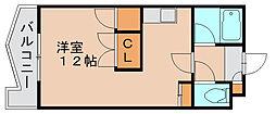 レジデンスコア[3階]の間取り