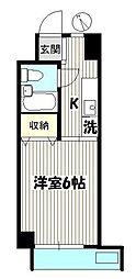 東京都江東区森下5丁目の賃貸マンションの間取り